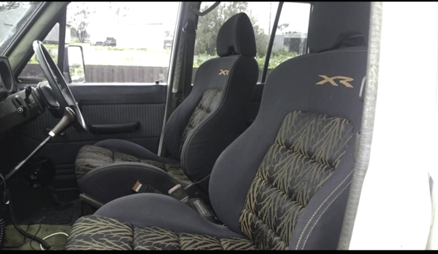 60 Series Landcruiser XR6 Seat Adapter Kit - from two toyota bucket seats