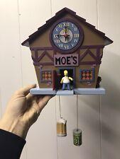 "Homer Simpson?s talking ""WOO-HOO"" Cuckoo Clock Moe?s Tavern 2005 See Description"