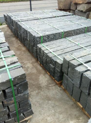 Basalt Palisaden Höhe nach Wahl 12x12 cm gespitzt Handgeschlagen