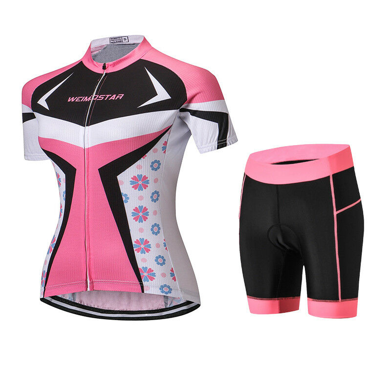 donna Cycling Jersey Bicycle Clothing Set Bike Short Sleeve MTB Shirt Shorts Top