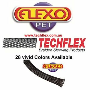 better than PET material 5//8 Techflex braided expandable sleeving Nylon 100FT