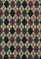 Rustic Black Diamond Mens Room Country Lodge Checkered Plaid Dbl Rolls Wallpaper