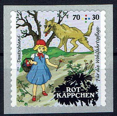 Motiviert 3215 ** Brd 2016, Skl. Aus Mb,wofa, Grimm's Märchen: Rotkäppchen