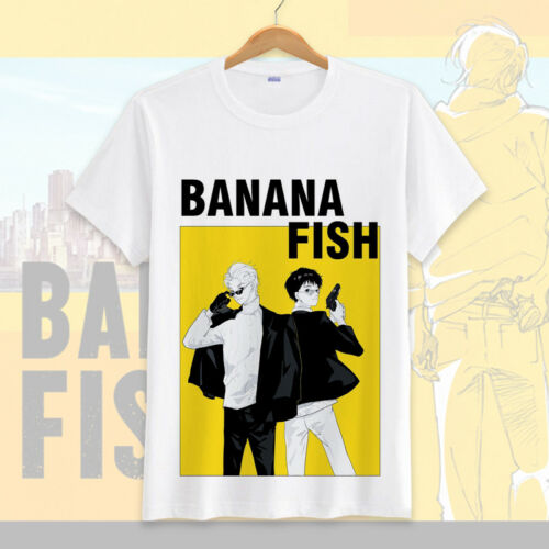 Anime BANANA FISH Ash Lynx Casual Short Sleeve T-shirt Unisex Tops Tee