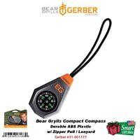 Gerber Bear Grylls Survival Compact Compass, W/ Zipper Pull Lanyard 31-001777