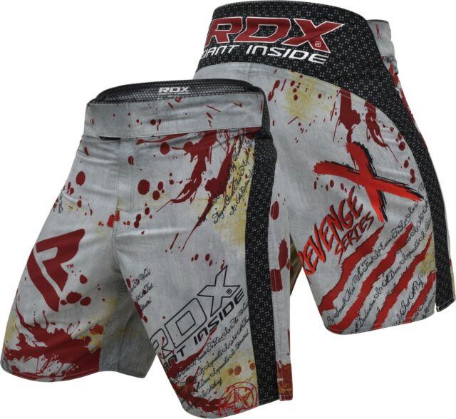 MMA kick boxing fight ufc short grappling muay Thai men's shorts wear cage black