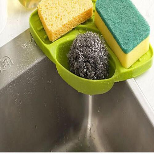 Kitchen Storage Sink Rack Bathroom Shelf Soap Sponge Organizer Drainer kim