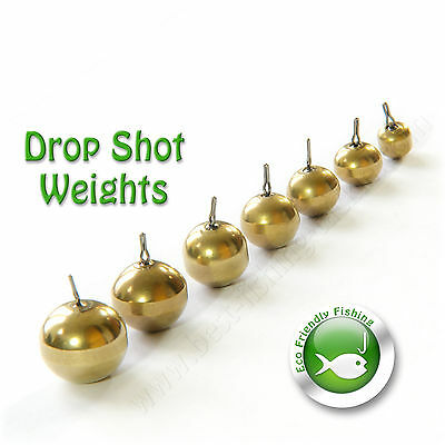 Brass Sinkers Drop Shot Weights Round NON TOXIC LEAD FREE Perch Fishing