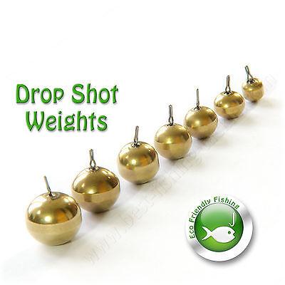 5 Pcs Brass Fishing Sinker Weight// Drop Shot Weight for Perch Pike Fishing