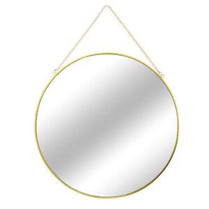 Wandspiegel Hangespiegel Dekospiegel Badspiegel Gold Kette Spiegel