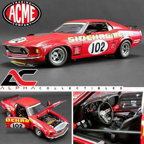 Acme a11801829 1  18 1969 Jefe Jefe Jefe Ford 302 Trans am Mustang sidchrome 7d4