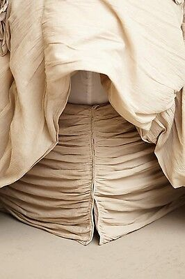 NEW Anthropologie Twin Georgina Bed Skirt In Gray