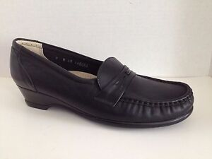 SAS-Shoes-Womens-Size-7-N-Narrow-Black-Loafers-7N-Easier-Made-in-USA