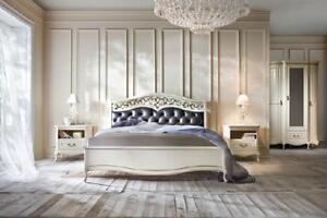 Détails sur Italienne Style Chambre À Coucher Complet Meuble Lit Table De  Chevet Commode 2