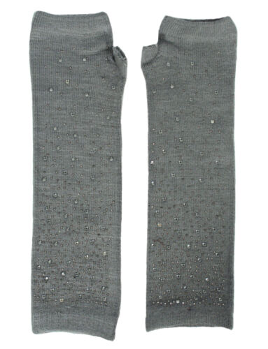 Fashion Women Winter Warm Knitted Arm Warmer Long Fingerless Gloves Mitten