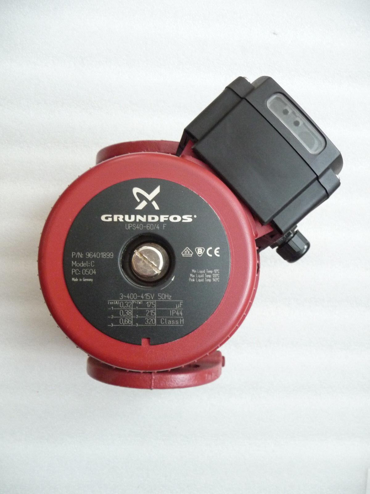 Grundfos UPS 40 - 60 60 60 /4 F Heizungspumpe 400 Volt Umwälzpumpe 250 mm gebraucht 41 dc4ebd