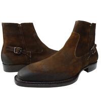 Mezlan Mens Natale Ii Chelsea Side Zip Business Casual Dress Shoes Ankle Boots