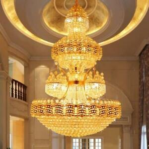 Luxury Duplex Hotel Large Led Crystal Chandelier Villa Decorative Lighting 0125 Ebay