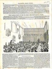 Banquet Républicain de Mars Salle du Jeu de Paume à Versailles GRAVURE 1848