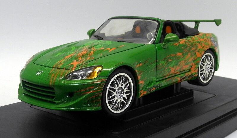 Ertl 1 18 Scale Diecast - 33712 2000 Honda S2000 Street Top Tuner vert