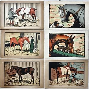 Edwon-Noble-1876-1941-Lot-of-6-vintage-antique-postcards-unposted
