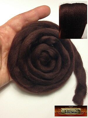 "M01389 MOREZMORE 36/"" Viscose Roving CHOCOLATE BROWN Mini Doll Hair Fiber A60"