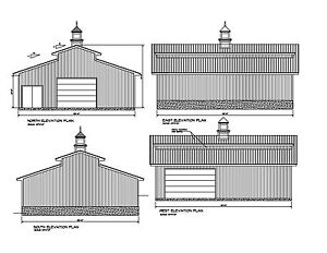 42 39 x36 39 monitor style barn plans 36 39 x42 39 print blueprint for Monitor style barn plans