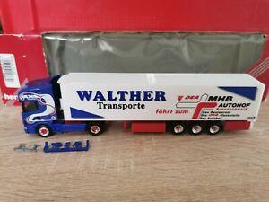 Herpa-146630-camiones-h0-1-87-scania-Walther-transportes-en-su-embalaje-original