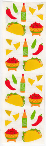You Choose Vintage Mrs Grossman Stickers Mexican Food Carnival Vegetables Egg