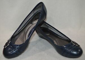 57090c53f4e LifeStride Women s Farrow Navy Wedge Shoes - Size 8.5   9.5 NWOB