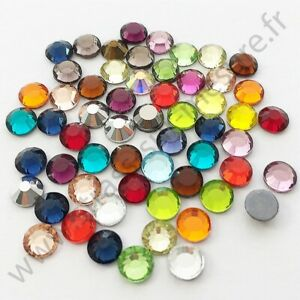 3mm,4mm 6mm Strass métal thermocollant rond hotfix ROUGE 5mm 2mm