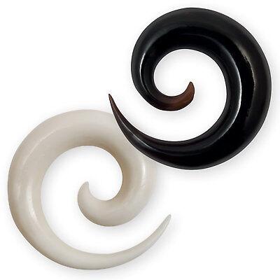ein Piercing Claw Expander Horn schwarz tribal verschiedene Größen Dehnen NEU!!