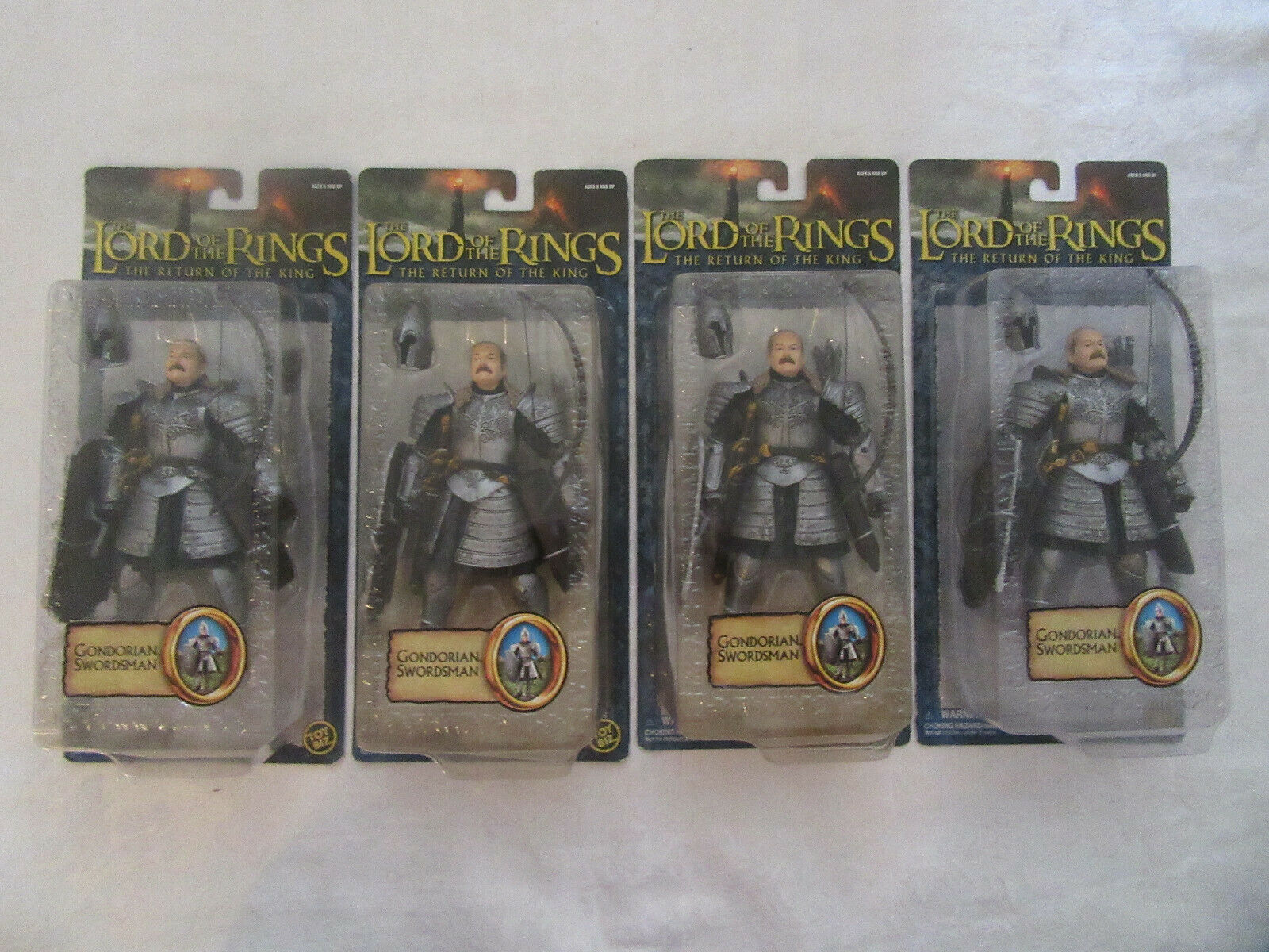 Toy Biz Lord of the Rings LOTR Return King Gondorian Swordsman Lot Set of 8
