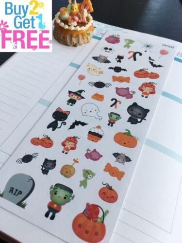 Ghosts:Planner Stickers Erin Condren Pumpkin Costumes S333-Halloween,Holiday