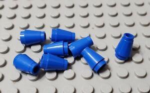 LEGO Lot of 10 Translucent Dark Blue 1x1 Creator Brick Cone Parts and Pieces