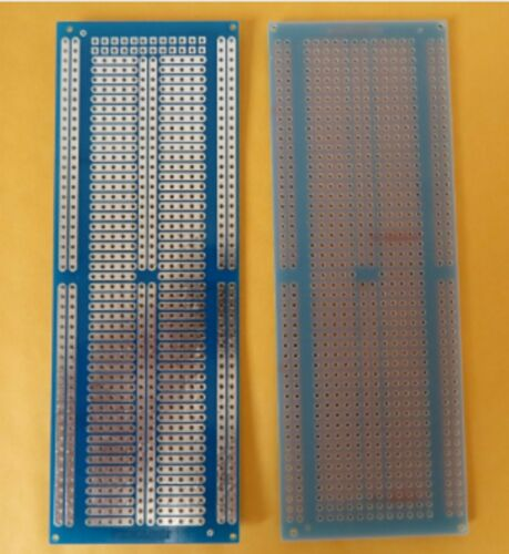 13x5 cm PCB Veroboard Prototype Stripboard Strip Vero Board breadboard BLUE B