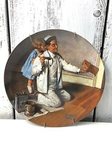 Norman-Rockwell-Heritage-Collection-Plate-1983-The-Painter-Knowles-China