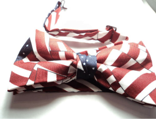 and BLUE WHITE MASONIC PATRIOTIC BOW TIE ADJUSTABLE pbt RED