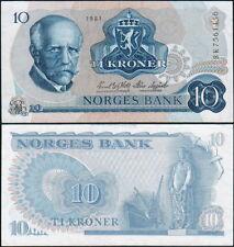NORVEGIA - Norway 10 kroner 1981 - F