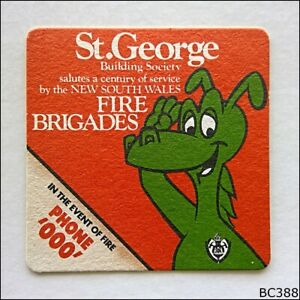 St-George-Building-Society-Fire-Brigades-Coaster-B388