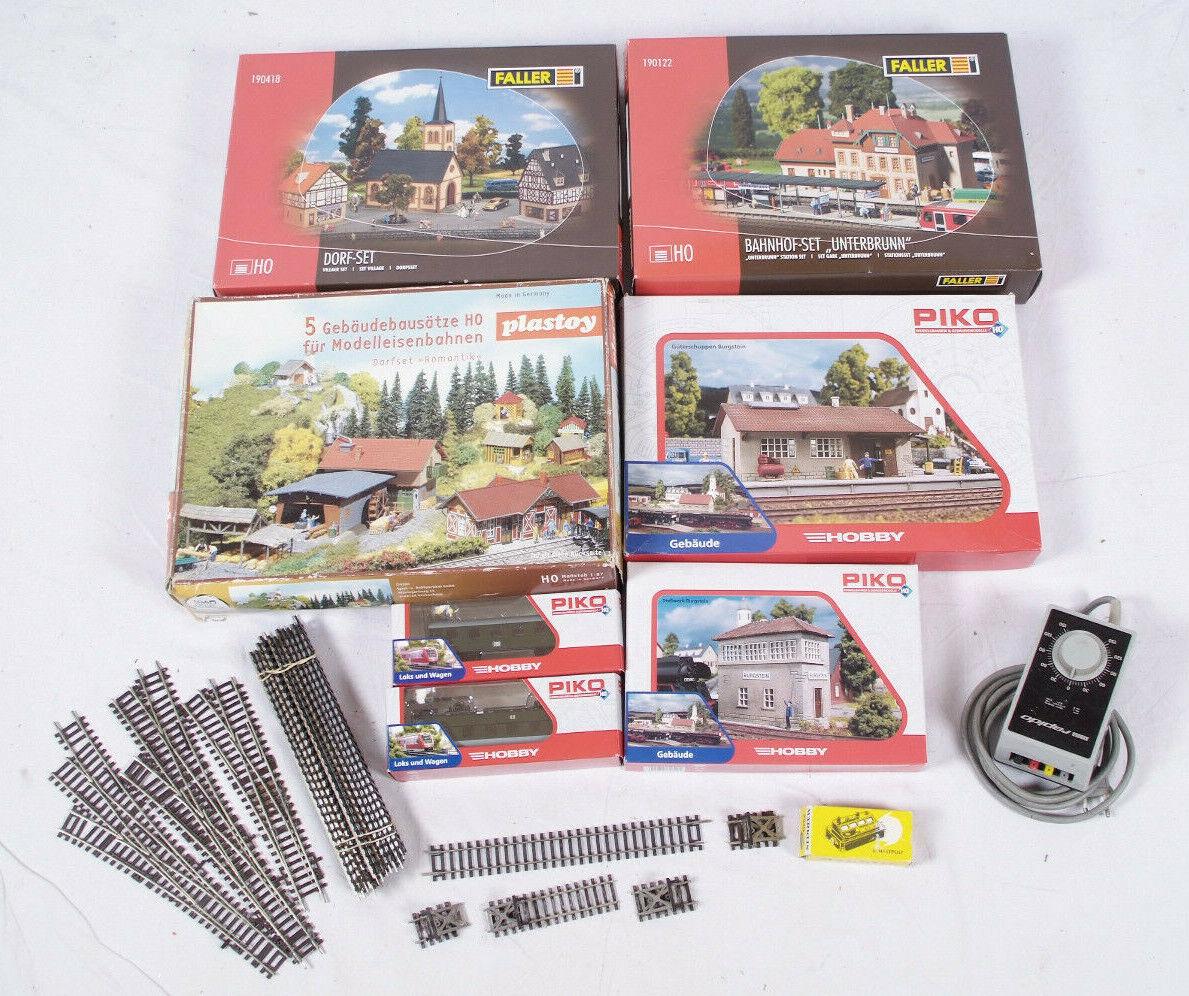 Set grande edificio villaggi modello h0 ferroviario ferrovia Faller PIKO playstoy