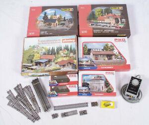 Grosses-Set-Gebaeude-Doerfer-H0-Modelleisenbahn-Eisenbahn-Faller-Piko-Playstoy