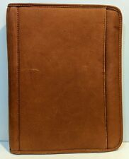 Rare Claire Chase Leather Portfolio Folder Aged Patina Leather Distressed Lovely