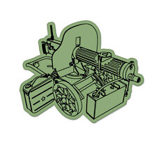 "Maxim Machine Gun Vinyl Car Sticker Decal 4"" x 4"""