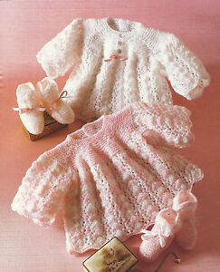 BABY-ANGEL-TOP-amp-BOOTEES-KNITTING-PATTERN-14-to-18-INCH-157