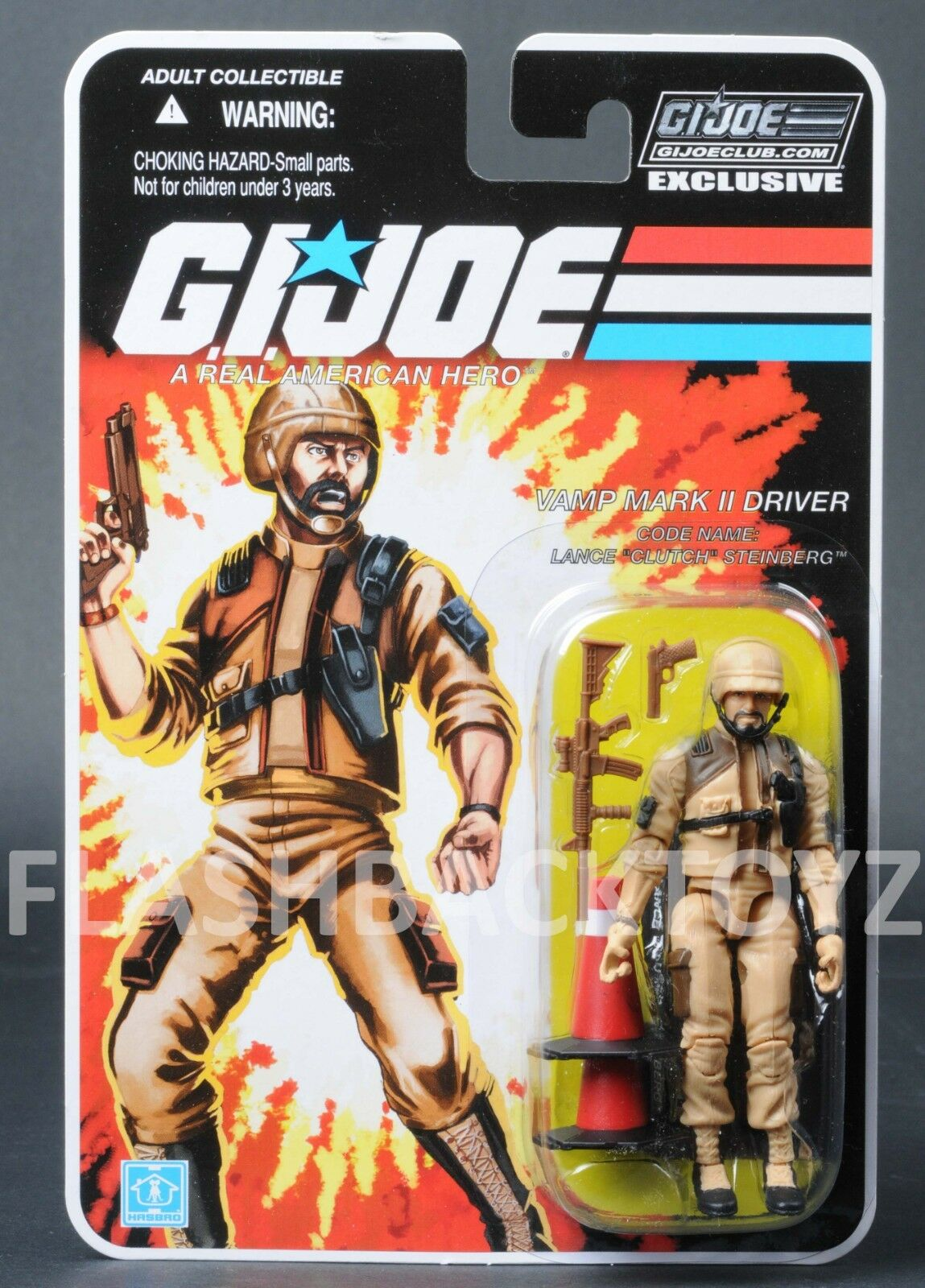 2018 GI Joe Tan Clutch Vamp Mark II Collectors Club Exclusive FSS 8.0 MOC