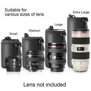 Soft-Neoprene-S-M-L-XL-Lens-Pouch-Bag-Canon-Nikon-Sony-Pentax-DSLR-Camera