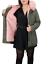 Parka-Donna-Invernale-Giubbotto-cappuccio-pelliccia-Cappotto-Imbottito-Lungo miniatura 25