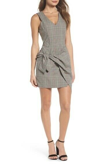 Adelyn Rae Plaid Dress Sleeveless Tied New Size M New