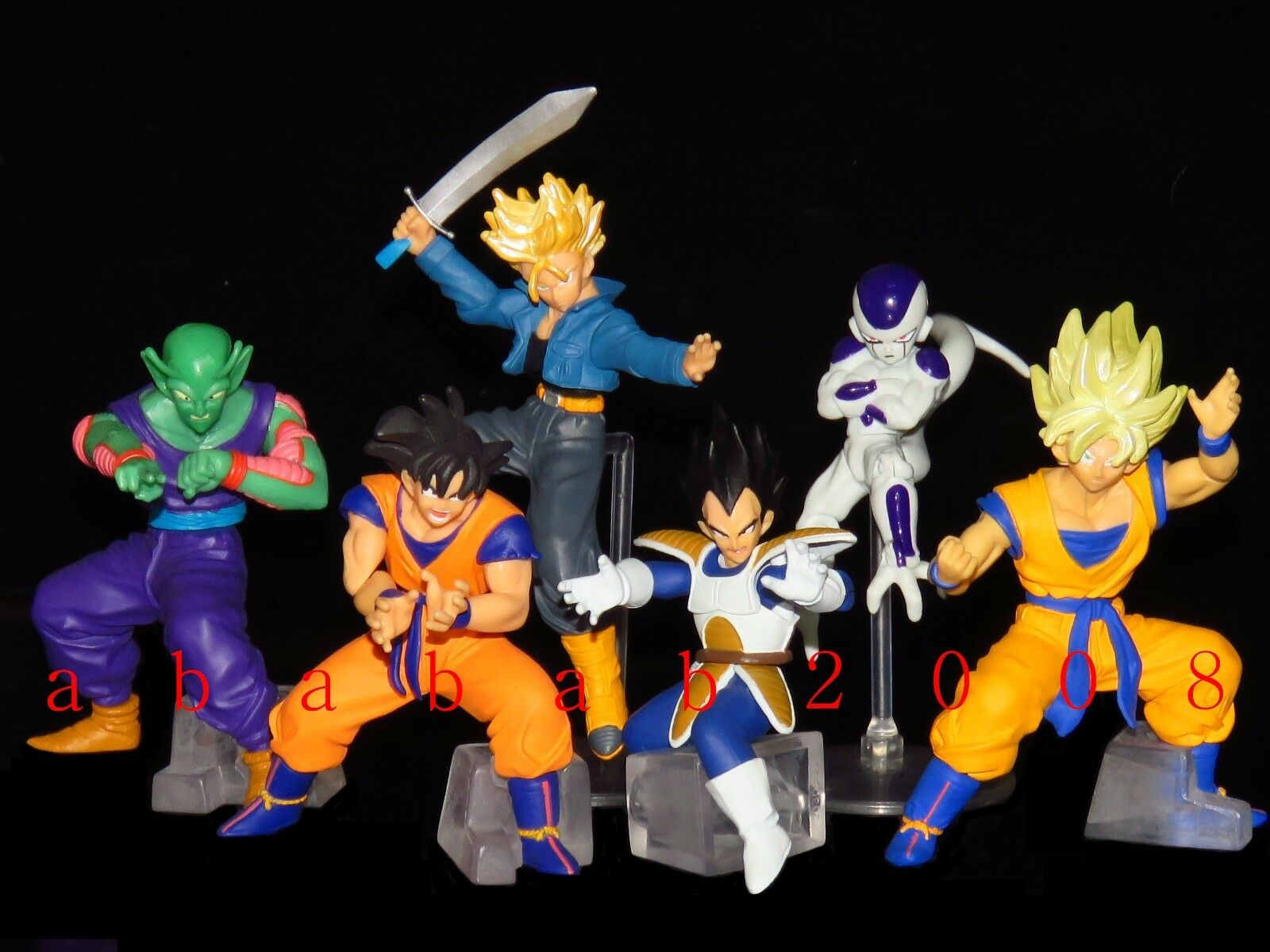 Bandai Dragonball Z figure Action Pose Pose Pose gashapon part.1 (full set of 6 figures) 1dd05f